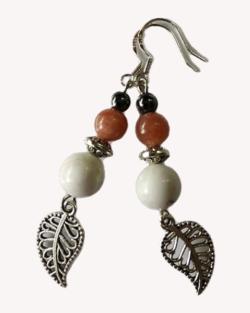 Boucles d'oreilles « Surya » feuilles